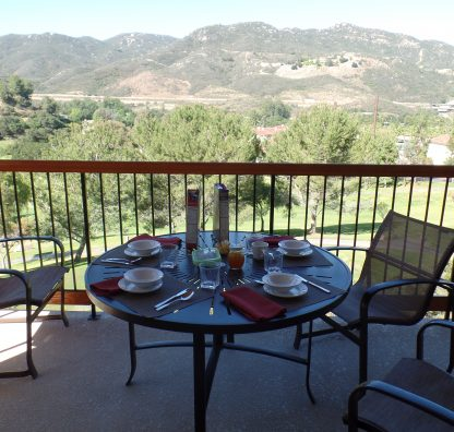 Timeshare Owners Case Study: Breakfast on the balcony and a mountain view