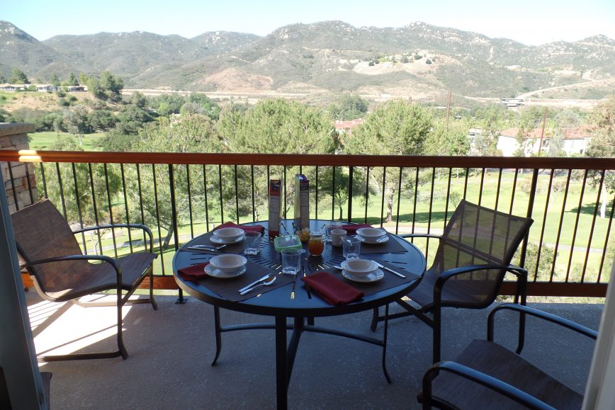 Timeshare Owners Case Study Breakfast On The Balcony And A Mountain